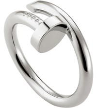Cartier Juste Un Clou Rhodium Plated White Gold Ring
