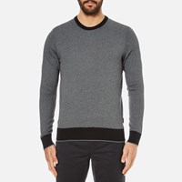 Michael Kors Men's Cotton Jacquard Crew Neck Jumper Black