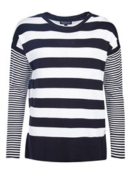 Barbour International Rivco Stripe Jumper Black Cream