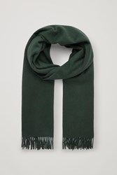 Cos Wool Cashmere Scarf Green