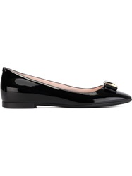 Bally Buckle Detail Ballerinas Black