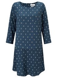 Harris Wilson Vestina Owl Print Dress Petrole