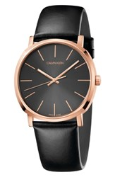 Calvin Klein Posh Leather Band Watch 40Mm