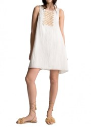 Leon Max Hand Beaded Sleeveless Dress
