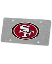 Stockdale San Francisco 49Ers Glitter License Plate Silver