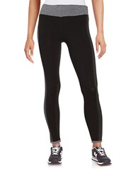 Kensie Colorblocked Athletic Pants Black Slate