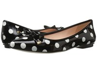 Kate Spade Emma Too Black White Polka Dot Black Patent