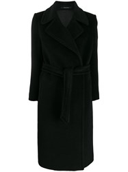 Tagliatore Double Breasted Belted Coat 60
