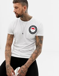 Religion Muscle Fit T Shirt With Logo Embroidery White