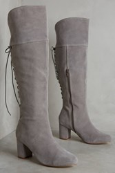 Anthropologie Farylrobin Emare Over The Knee Boots Grey