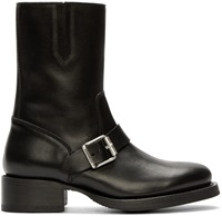 Dsquared Black Leather Buckled Boots