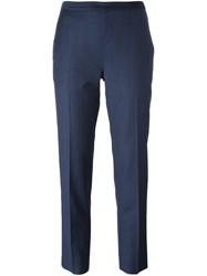 Maison Martin Margiela Herringbone Trousers Blue