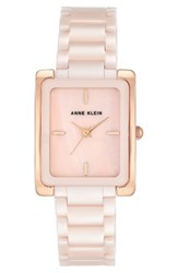 Anne Klein Women's Rectangle Ceramic Bracelet Watch 28Mm X 35Mm