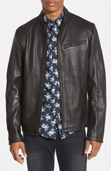 Men's 7 Diamonds 'Norwell' Black Leather Moto Jacket