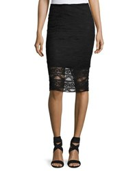 Laundry By Shelli Segal Lace Illusion Pencil Skirt Black