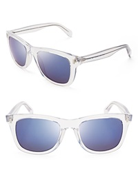 Marc By Marc Jacobs Wayfarer Sunglasses Crystal Blue Mirror