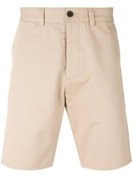 Maison Kitsune Classic Shorts Men Cotton 30 Nude Neutrals