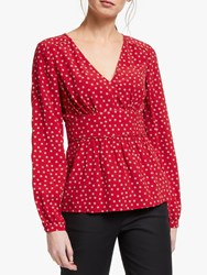 Boden Elsie Top Poinsettia