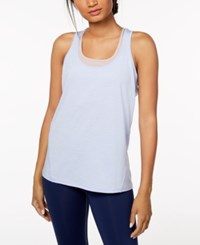 Ideology Rapidry Heathered Racerback Performance Tank Top Created For Macy's Lucien Blue