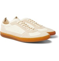 Officine Creative Kadette Suede And Leather Sneakers Neutrals