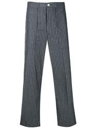 Thom Browne Cargo Pocket Pinstripe Trouser Blue