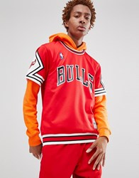 Mitchell And Ness Nba Chicago Bulls T Shirt In Red Blue