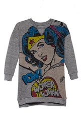 Eleven Paris Girl's Little Elevenparis Woom Wonder Woman Dress Grey