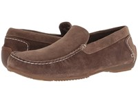 Hush Puppies Schnauzer Slip On Dark Taupe Suede Shoes Brown