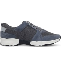 Carvela Latin Suede And Textile Trainers Grey