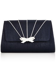 Jacques Vert Piping Detail Clutch Bag Navy