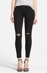Women's Mother 'The Looker' Frayed Ankle Skinny Jeans Guilty As Sin