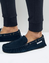 Lambretta Slippers In Navy Navy Blue