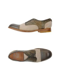 Barracuda Footwear Lace Up Shoes Men Military Green