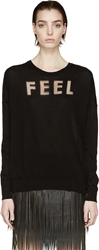 Each X Other Black Feel Intarsia Sweater