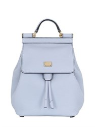 Dolce And Gabbana Sicily Grained Leather Mini Backpack