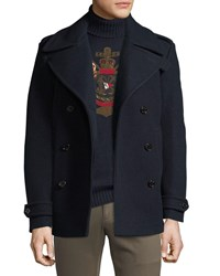 Ralph Lauren Wool Cashmere Pea Coat Navy