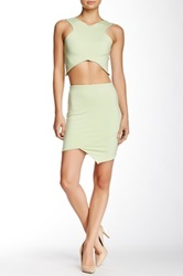 Donna Mizani Crossover Mini Skirt Green