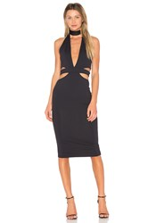 Donna Mizani Eden Midi Dress Black