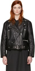 Acne Studios Black Leather Merlyn Jacket