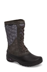 The North Face Women's Thermoball Tm Utility Waterproof Boot Houndstooth Black Plum