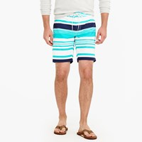 J.Crew 9 Board Short In Variegated Stripe
