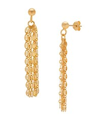 Lord And Taylor Goldtone Chain Tassel Earrings