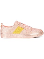 Opening Ceremony Glitter Flat Sneakers Pink And Purple