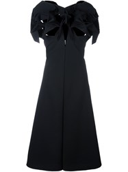 Comme Des Garcons Junya Watanabe Cut Out Bow Flared Dress Black