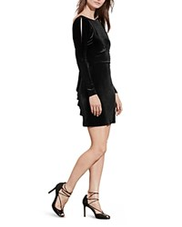 Ralph Lauren Petites Velvet Back Ruffle Dress 100 Bloomingdale's Exclusive Black