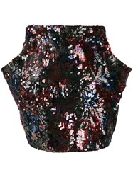 Roseanna Bowie Turner Sequin Skirt Blue