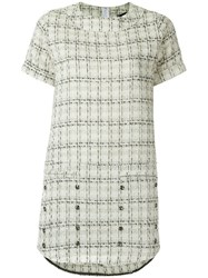 Andrea Bogosian Tweed Shift Dress White