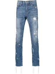 Mr. Completely Distressed Skinny Jeans Blue