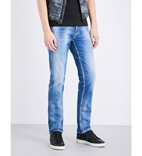 Replay Grover Slim Fit Straight Jeans Blue