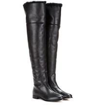 Jimmy Choo Marshall Leather Over The Knee Boots Black